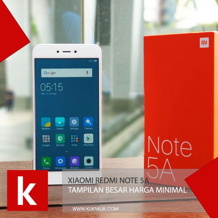 Xiaomi Redmi Note 5A sudah bisa kamu beli dengan harga 1.6 jutaan. Cek produknya sekarang! ➡➡ https://kliknklik.com/571-handphone-xiaomi