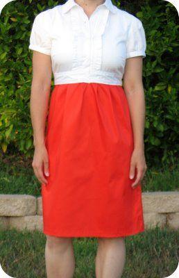 Shirt to Dress Refashion: Dress Shirt, Tutorials, Shirts, Dresses, Refashion Ideas, Sewing Ideas, Diy