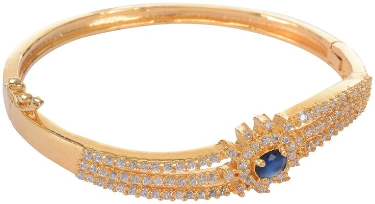 Buy Blue Gold Plated bangle/kada/Bracelet for Women Online at Low Prices in India | Amazon Jewellery Store - Amazon.in
