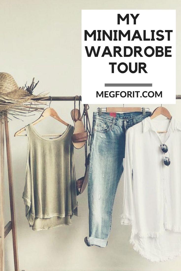 a video tour of my minimalist wardrobe.