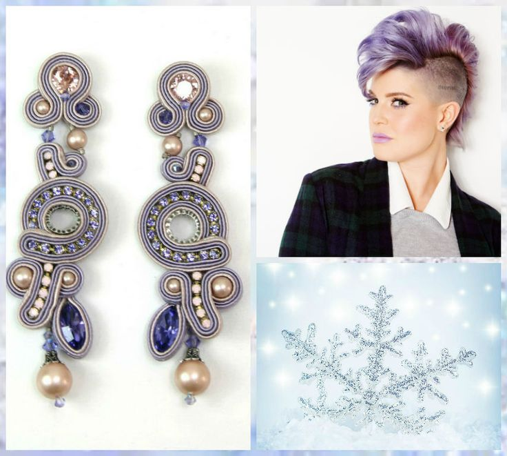 Kelly 'ice princess' pearl & crystal earrings by Dori Csengeri #DoriCsengeri #lilac #lavender #purple #earrings #statementearrings