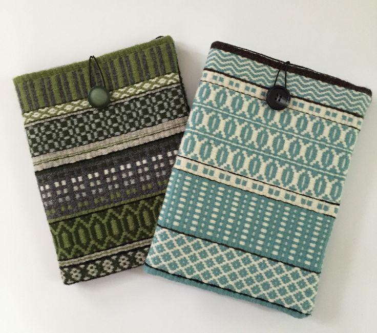 Barbara Pickel - iPad cases in wool handwoven rosepath with wool felt lining.