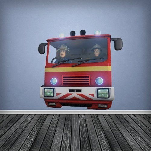 Full Colour Jupiter Fire Engine Fireman Sam Boys Bedroom