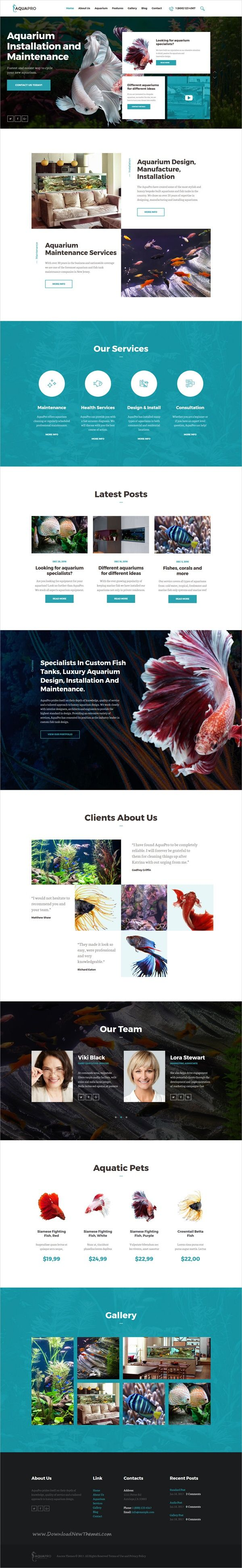 AquaPro is modern and functional design responsive #WordPress theme for #Aquarium services and business online store #eCommerce website download now➩ https://themeforest.net/item/aquapro-aquarium-services-online-store/19811882?ref=Datasata