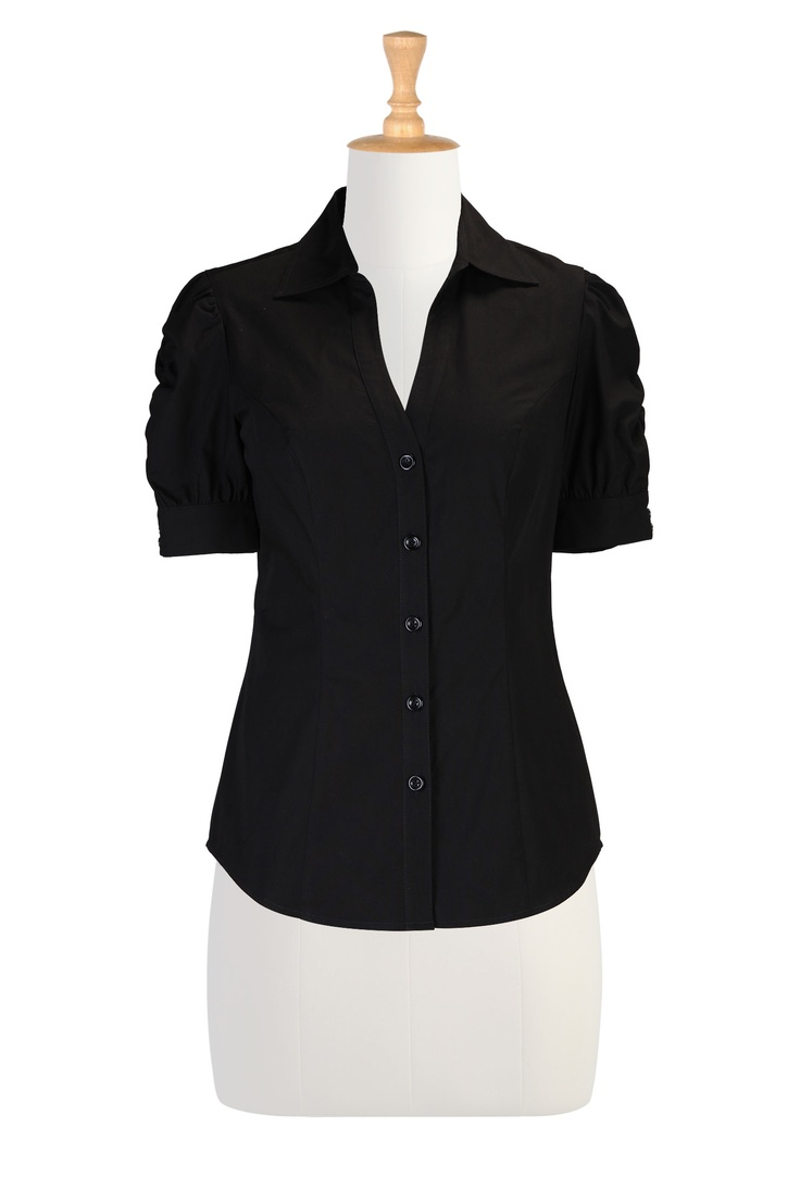 Shirts For Women , Plus Size Style Women's designer clothing - Women's Blouses - Ladies Going Out Tops, Plus Going Out Tops, Halter Tops -   eShakti.com