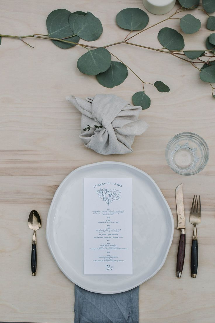 Kinfolk style table setting for Midsummer's Eve.  Midsommardukning.