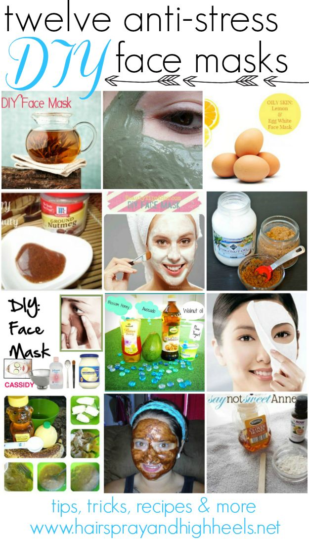 12 DIY Face Masks  from Hairspray and Highheels. These look good. #diyfacemasks