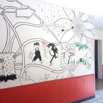 Silke Smida: Kunstprojekt an einer Schule in Berlin. Powered by silkesmida.com