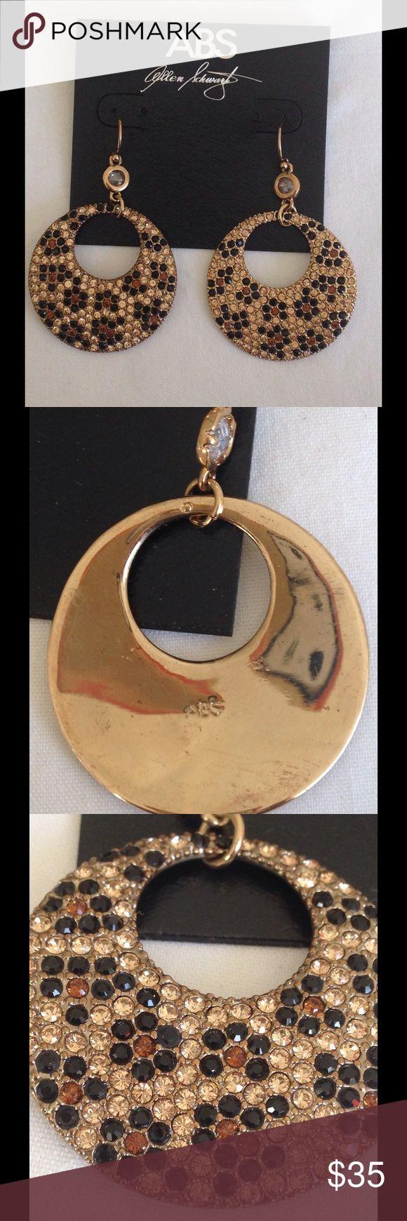 A.B.S By Allen Schwartz Animal Print Earrings Elegant Animal print skin deep pave door knocker earrings with french hook. 2.5 L by 1.5W A.B.S By Allen Schwartz Jewelry Earrings