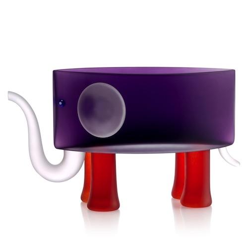 BEN, vase in elephant shape, Studio Line Coll. (size 45x30cmH) - Borowski Art Glass