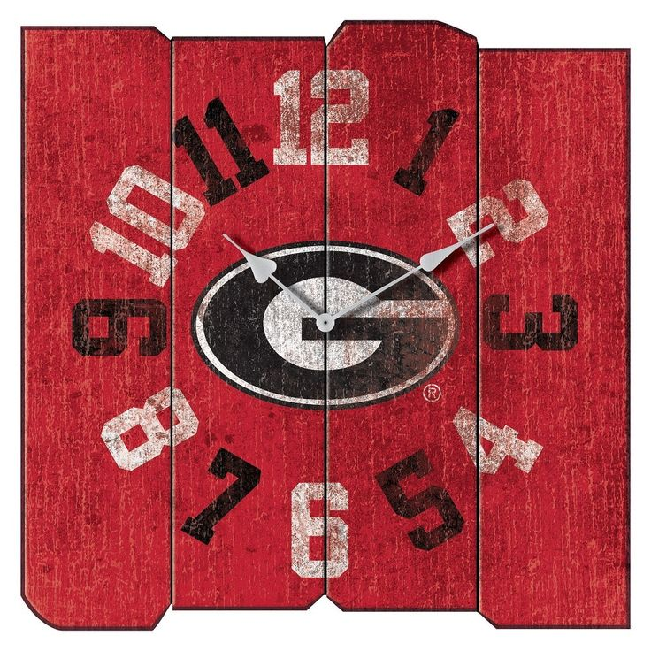 College Logo Stuff   Georgia Bulldogs Vintage Square Wall Clock, $59.95  (https:/