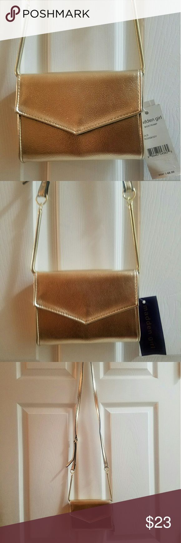 Madden Girl Crossover bag Small Crossover bag Golden Madden Girl Bags Crossbody Bags