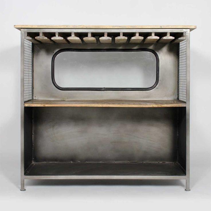 bar industriel gris retro