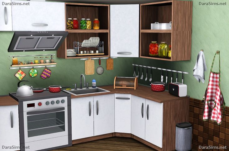 Kitchen decor set by darasims oh my finds sims buy for Sims 3 kitchen designs
