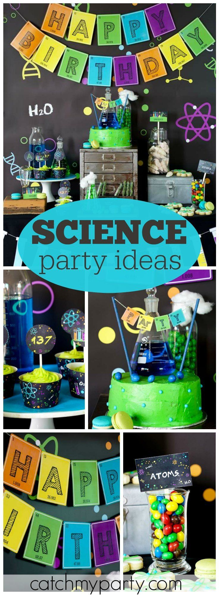 What a fantastic science birthday party! See more party ideas at CatchMyParty.com!