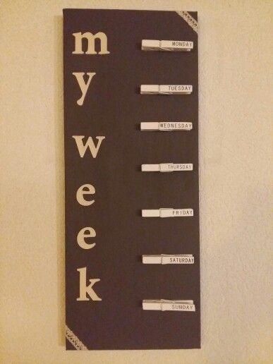 Ma petite semaine ... pratique !!
