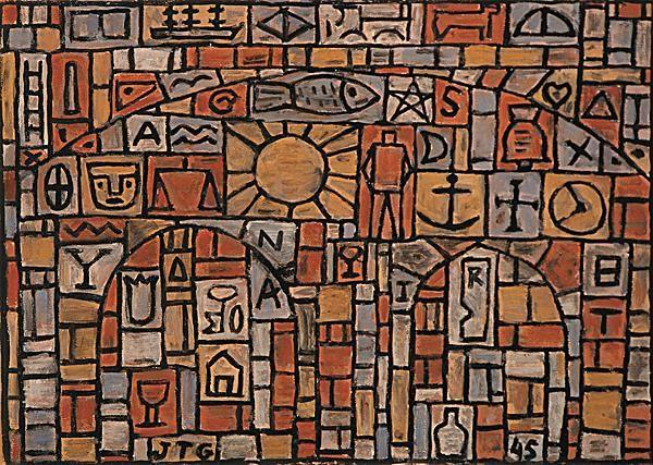 Estructura Universal con Tres Arcos, 1945, Joaquin Torres Garcia  Art Experience NYC: www.artexperiencenyc.com
