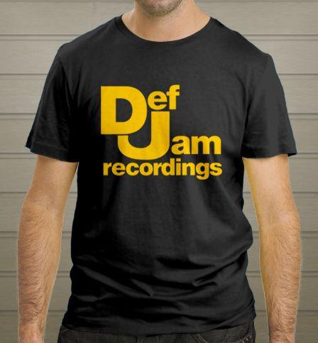 Def Jam Recordings logo Hip Hop Band Man Black T-Shirt S-2XL New - T-Shirts, Tank Tops