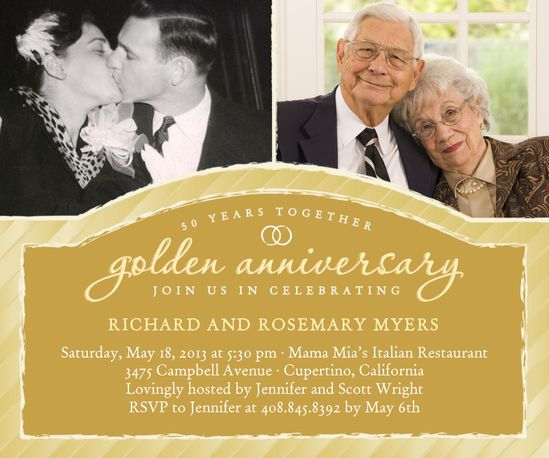 50th Anniversary Invitations 50th Anniversary Anniversary