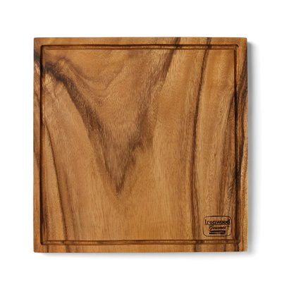 Fox Run Craftsmen Wood Chopping Block Board with Groove