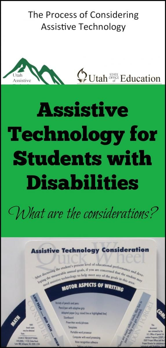 Video about the process of considering assistive technology for students with disabilites
