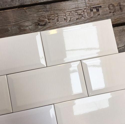 Wandtegel metro 10x20 off white klassiek wit joy creme glans bestel je eenvoudig bij TegelOutlet Zetten