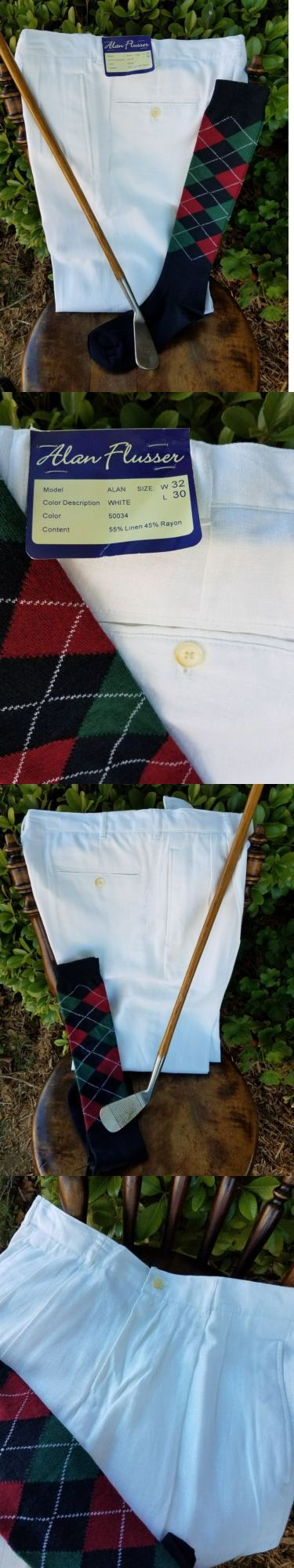 Other Golf Clothing 158939: Golf Knickers 32 Nwt! Alan Flusser Linen Rayon! New Argyles! Nice! -> BUY IT NOW ONLY: $36.95 on eBay!