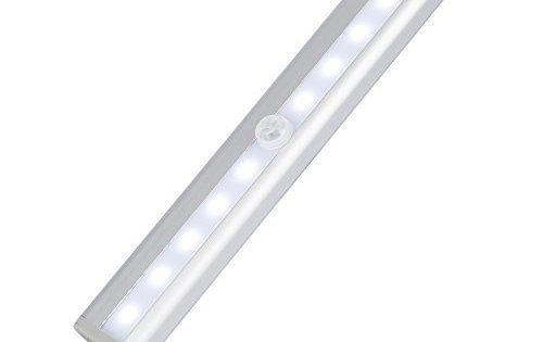 Tsing Détecteurs de Mouvement Lampes 10 LED Très Brillantes, sans Fil, Capteur d'Infrarouge Passif avec Veilleuse de Meuble à…