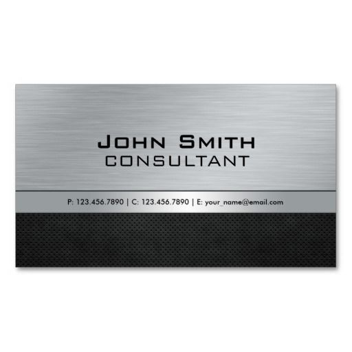 233 best accountant business cards images on pinterest business professional elegant modern silver black metal business card reheart Gallery