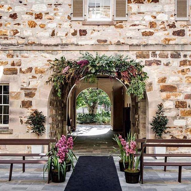 A forever kind of love ....... || Rigging by #avideas || Florals @katedawesflowerdesign || Planning & Styling @tdcreativeagency || Venue #oldgovernmenthouse || @cathyschusler #HatchersCatch