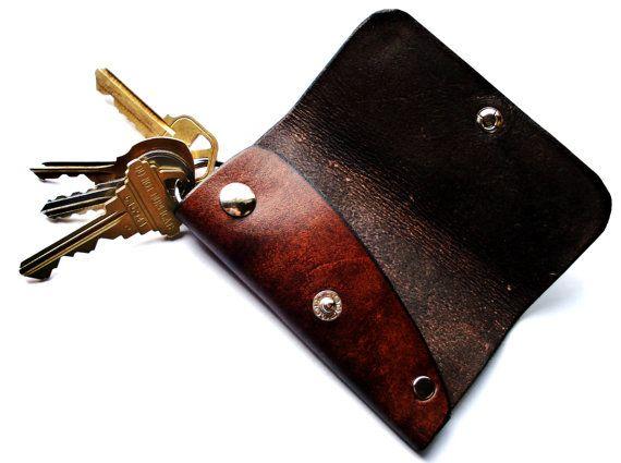 Customizable Leather Key Case by seattleleather on Etsy, $21.50