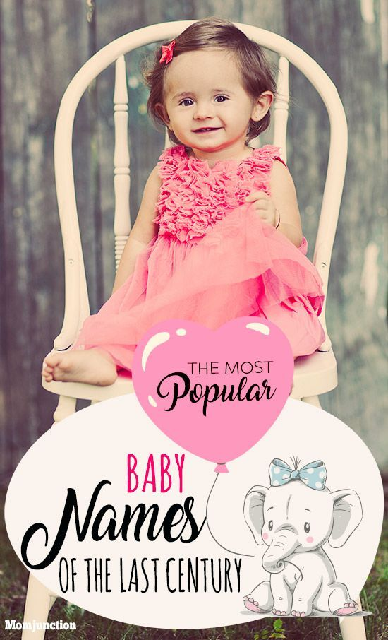The Most Popular Baby Names Of The Last Century Baby Pinterest