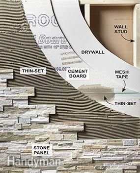 Cover a wall with stone veneer and transform a room!