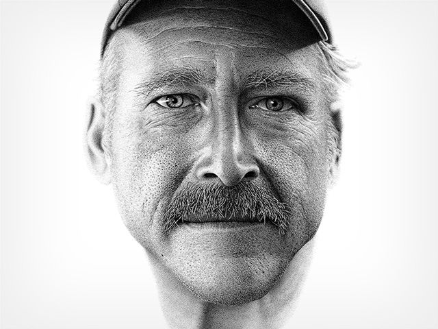 Do you know this man? A portrait drawn by hand with 2.1 million ink dots by Miguel Endara to aid amnesiac Benjaman Kyle