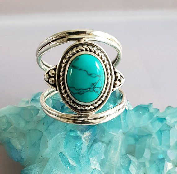 Nepalese Silver Turquoise Ring