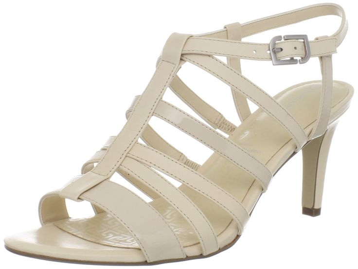 Rockport Women's Lendra S Strappy Sandal,Macadamia Leather,US 10.5 M. Dressy, strappy, sandal style is boosted with comfort thanks to adidas adiPRENE technology in both the heel and forefoot.