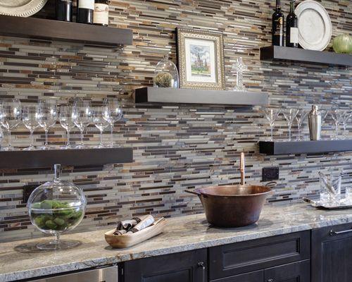 Kitchen Backsplash Ideas from Drury Design...shelves....