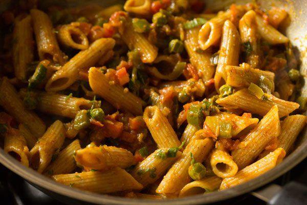 Masala Pasta Recipe Pasta Recipes Indian Pasta Indian Style