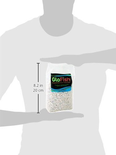GloFish Aquarium Gravel, White Frost, 5-Pound Bag