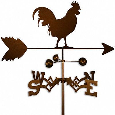 ROOSTER WEATHERVANE Weather Vane Vain Garden Farm Country RUSTIC Barn Home Wind