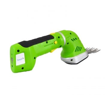 Cordless Handheld Grass Cutter Shears, Electric Hedge Shrubber Trimmer, Built-in 7.2V Battery (Changeable Blades), Green