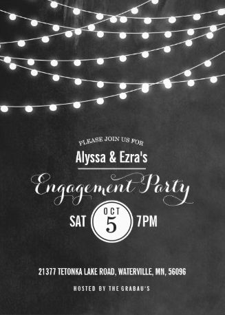 engagement invitations!