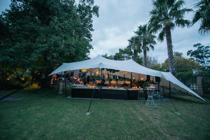 A stunning set-up in Auckland for an autumn wedding (10m x 12m white tent, flooring, dance-floor)