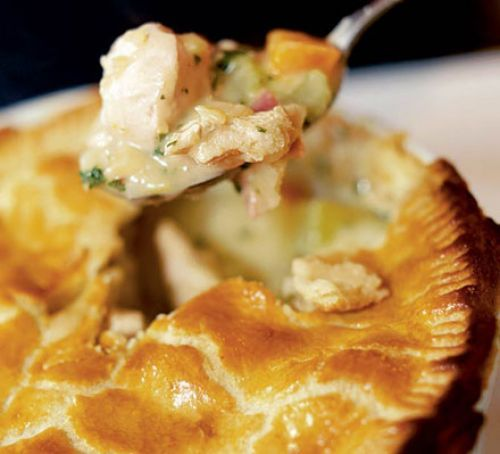 Chicken & ham pie..use quorn instead