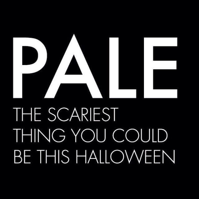 Don't glow in the dark in Halloween! Get a bronze spray tan! #halloween #party #fall #tan