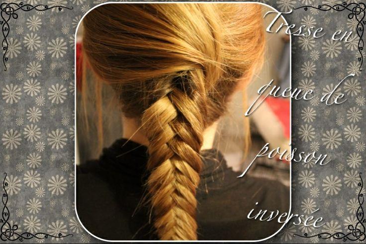 77 best images about cheveux on pinterest bun with braid updo and dutch french braid - Tresse queue de poisson ...
