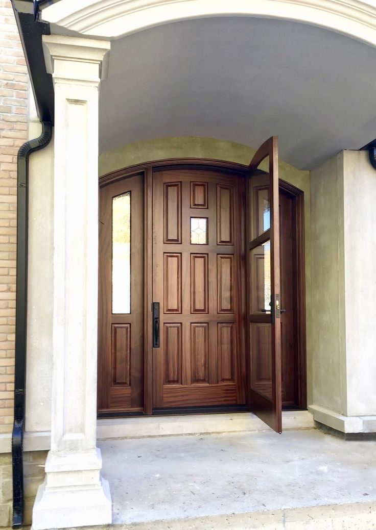 Miraculous Gorgeous Amberwooddoors Mahogany Entrance W Storm Door Door Handles Collection Dhjemzonderlifede