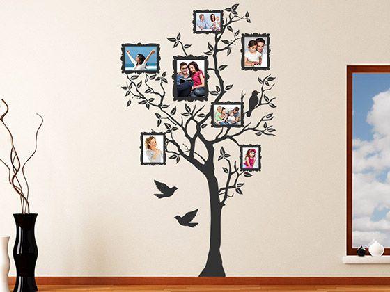 Wandtattoo Baum für Fotos