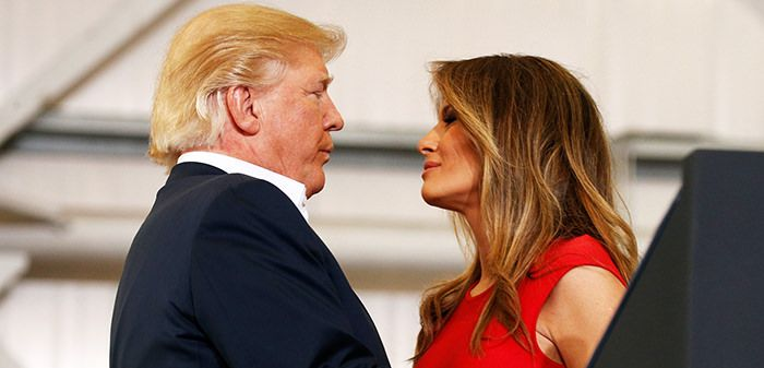 Everyone Is Talking About The Way Melania Trump Kicked Off Her Husband President Trump's Rally Today