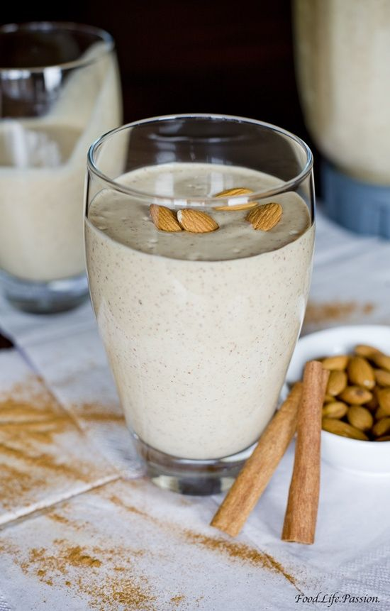 Almond Butter Smoothie  I did this one but didn't add any agave syrup and it was real delicious... -Yuli